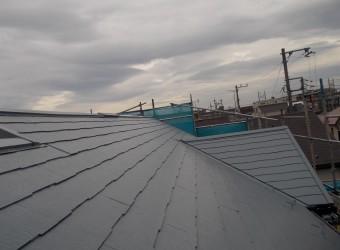 屋根塗装完了です