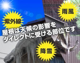 屋根は天候の影響をダイレクトに受ける部位です