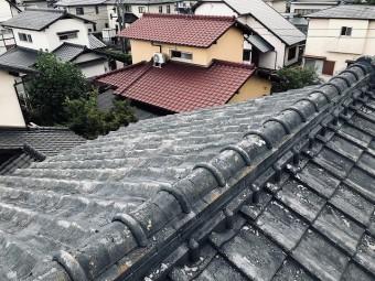 大屋根の棟仕舞の状況