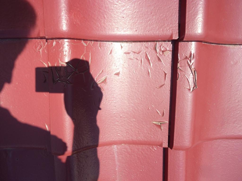 倉敷市中庄で、築40年のセメント瓦の調査にお伺いしました
